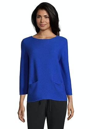 Betty Barclay Boat Neck Blouse - Blue