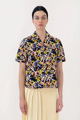 Arthur Arbesser Printed Shirt - Black/Orange/Multi