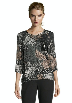 Betty Barclay Grey Floral Blouse