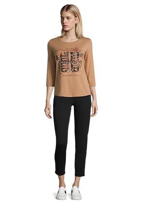 Betty Barclay Printed Long Sleeve Top - Camel