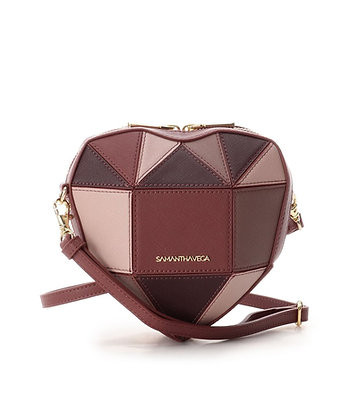 Samantha Vega Chocolate Heart Bag - Brown