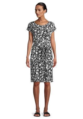 Betty Barclay Short Sleeve Dress - Black/White