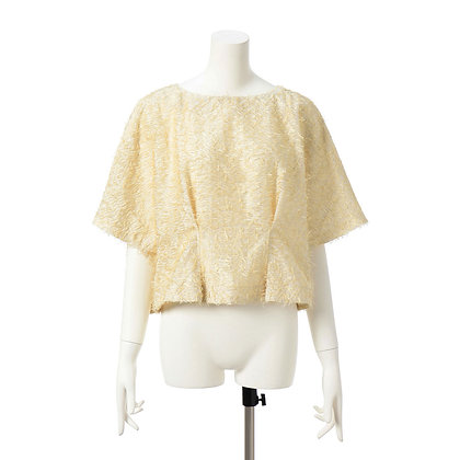Taro Horiuchi SS20 Gold/White Back Ribbon Blouse
