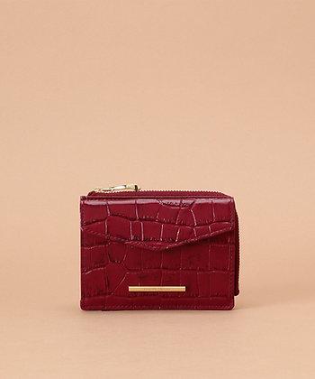 Samantha Thavasa Croco Small Wallet - Wine
