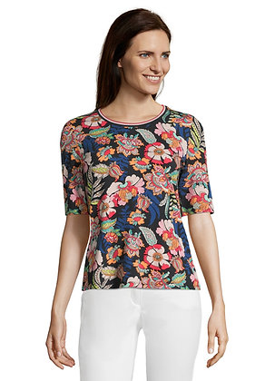 Betty Barclay Navy Floral Tee