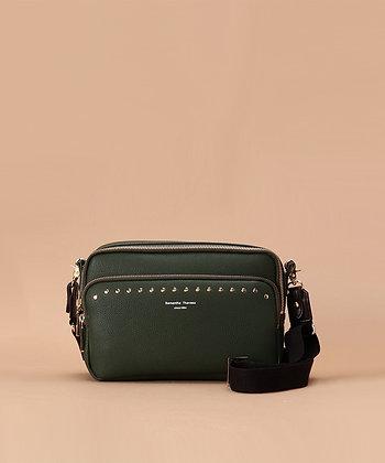 Samantha Thavasa Studs Shoulder Bag - Khaki