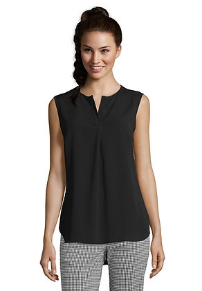 Betty Barclay Sleeveless Blouse with Open Collar
