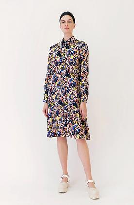 Arthur Arbesser Printed Shirt Dress - Black/Yellow/Multi