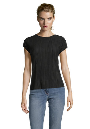 Betty Barclay Pleated Blouse - Black