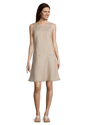 Betty Barclay Sleeveless Dress - Latte