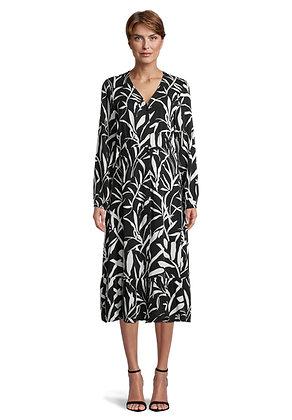 Betty Barclay Long Sleeve Dress - Black/White