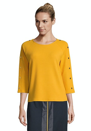 Betty Barclay Button Sweater - Golden Yellow