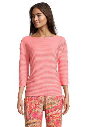 Betty Barclay Boat Neck Sweater - Shell Pink