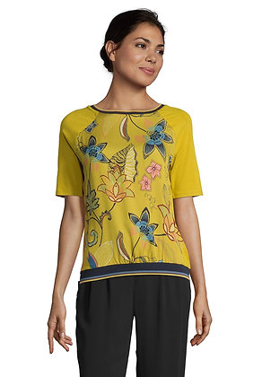 Betty Barclay Printed Yellow Blouse
