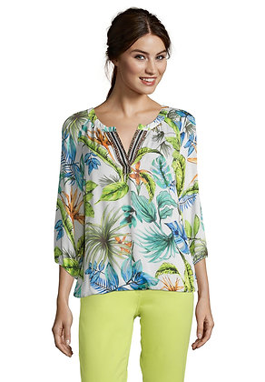 Betty Barclay Floral Print Long-Sleeve Blouse