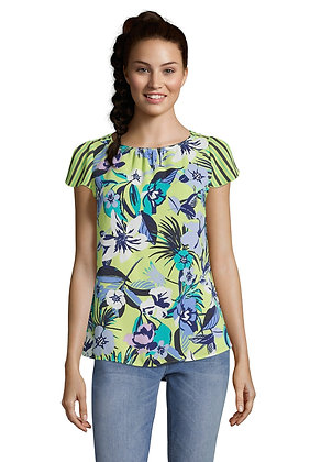 Betty Barclay Floral Cap Sleeve Blouse