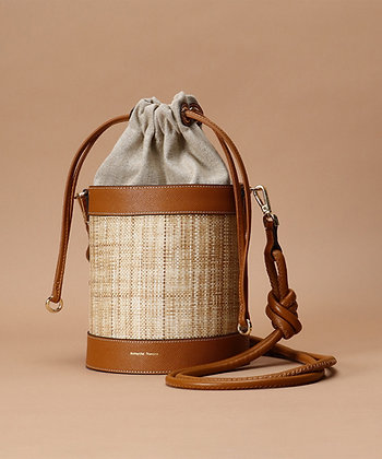 Samantha Thavasa Nadia Panama Bucket Bag - Camel