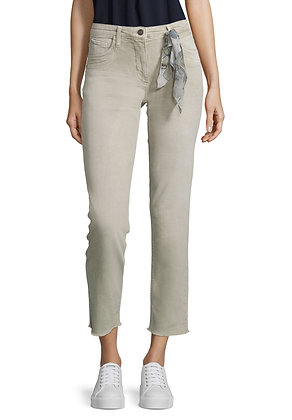 Betty Barclay Slim Pants With Sash - Grey
