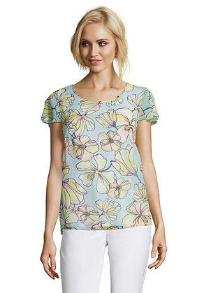 Betty Barclay Printed Cap Sleeve Blouse