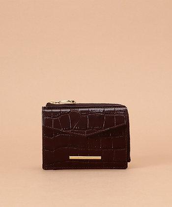 Samantha Thavasa Croco Small Wallet - Brown