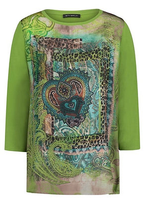 Betty Barclay Green Printed Blouse