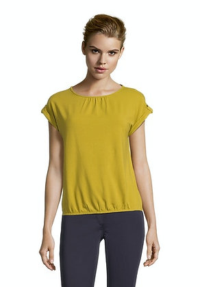 Betty Barclay Ruched Blouse - Golden Olive