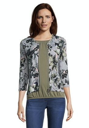 Betty Barclay Floral Zip Cardigan