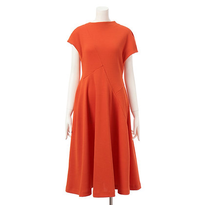 Taro Horiuchi Orange Random Flare Dress