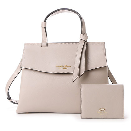 Samantha Thavasa Petit Choice Monica Bag with Mini Wallet - Greige (Grey Beige)