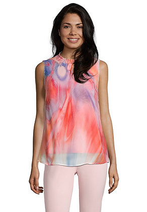 Betty Barclay Sleeveless Blouse - Red/Rose