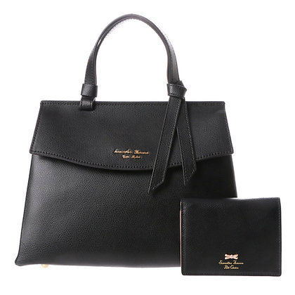 Samantha Thavasa Petit Choice Monica Bag with Mini Wallet - Black