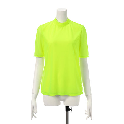 Taro Horiuchi SS20 Neon Yellow Back Drawstring Turtle Blouse