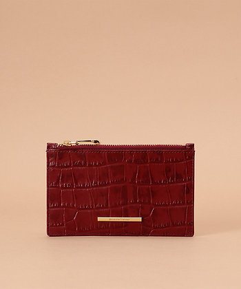 Samantha Thavasa Croco Card Case - Wine