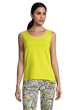 Betty Barclay Sleeveless Blouse - Neon Yellow