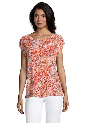 Betty Barclay Short Sleeve Blouse - Rose/Red