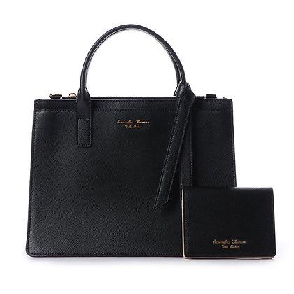 Samantha Thavasa Petit Choice Monica Tote with Mini Wallet - Black