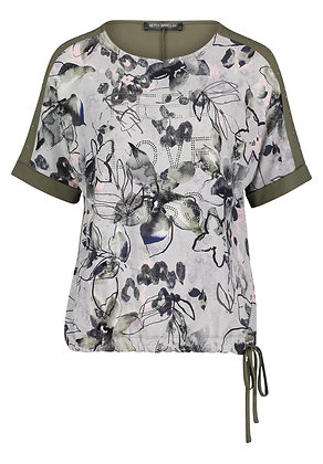 Betty Barclay Loose Blouse - Olive Floral
