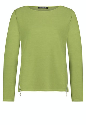 Betty Barclay Zip Sweater - Apple Green