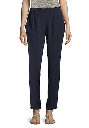 Betty Barclay Slim Trousers- Navy