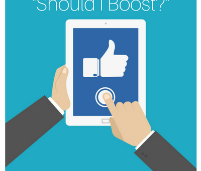 Stop Using The Boost Post Button On Facebook