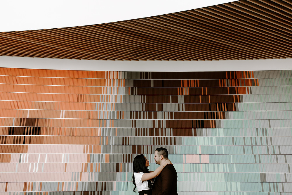couple engagement session calgary central library