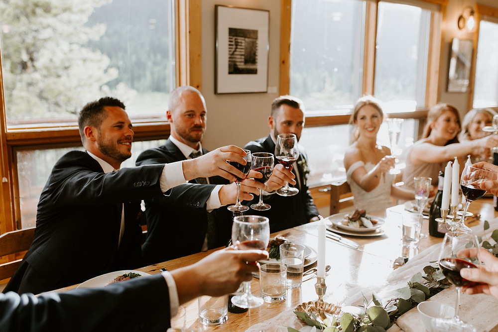 mount engadine lodge wedding reception