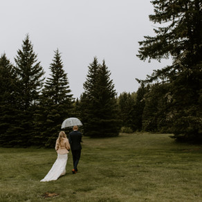 Gorgeous Rainy Wedding at Boutique Estate, Bragg Creek