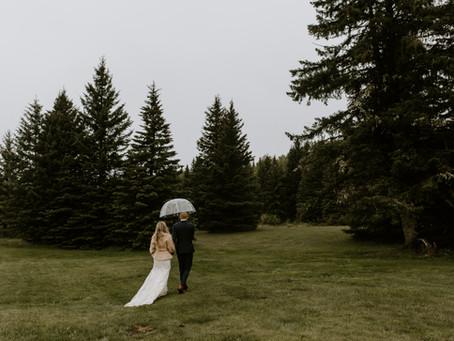 Gorgeous Rainy Wedding at Boutique Estate, Bragg Creek