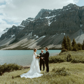 Beautiful Bow Lake Elopement | Banff Elopement Photographer & Videographer