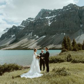 Beautiful Bow Lake Elopement | Banff Elopement Photographer & Videographer