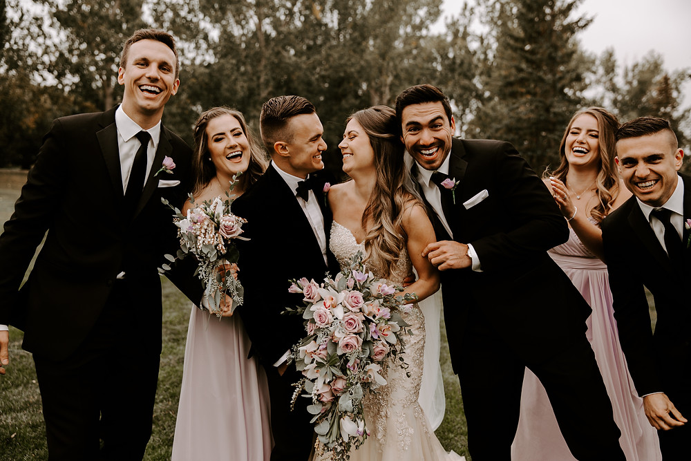 bridal party meadow muse wedding