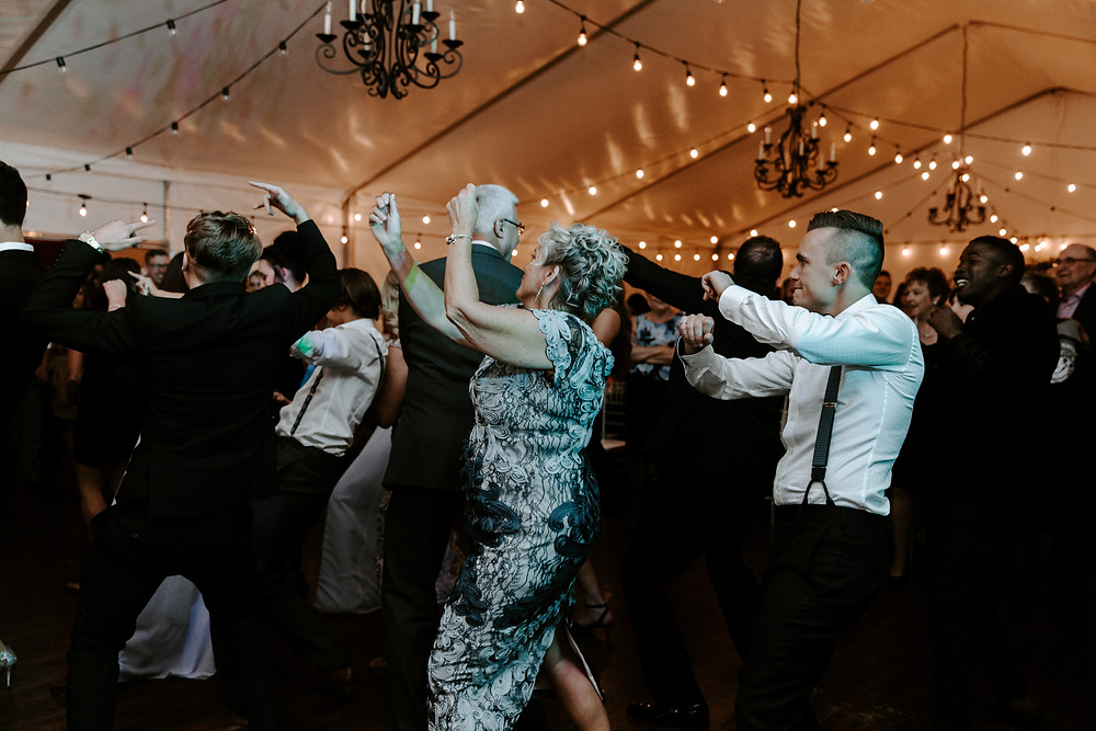 dance party at Meadow Muse wedding calgary