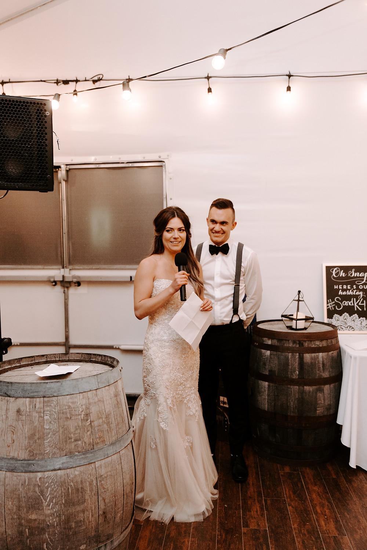 bride and groom speech meadow muse wedding