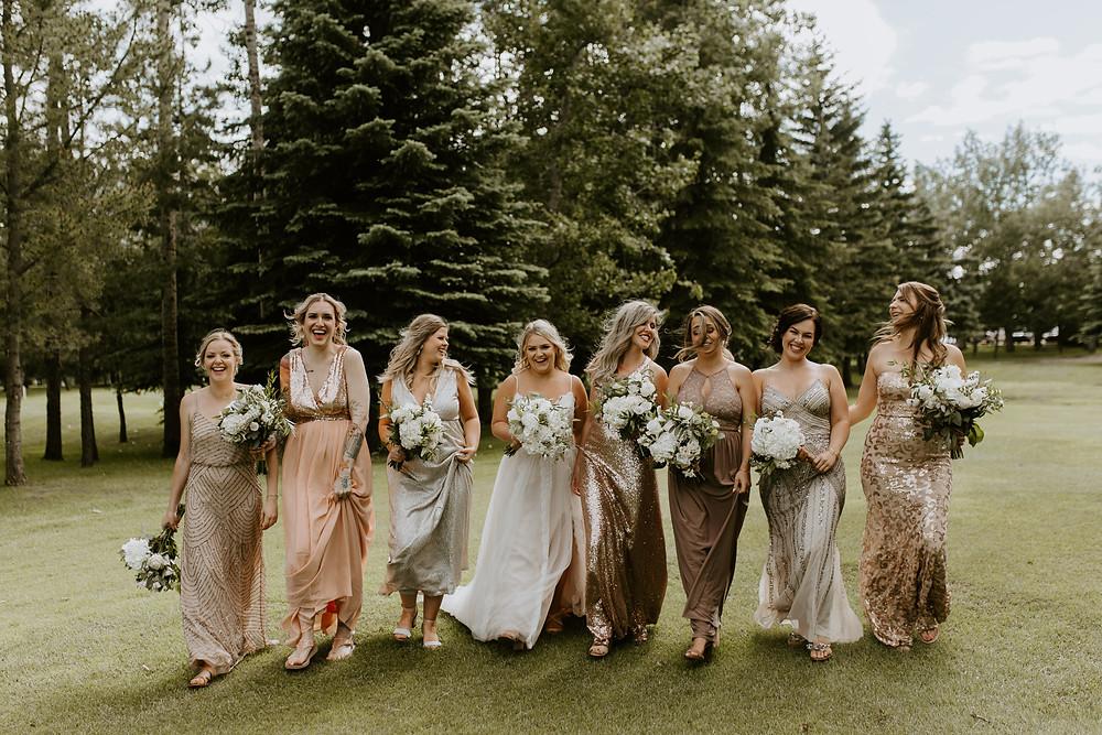Sylvan Lake Hilltop Wedding Center bridal party